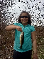 showed my little girl how to fish wacky worms today