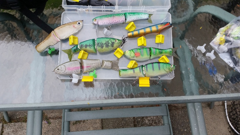 some of the swimbaits I made this summer