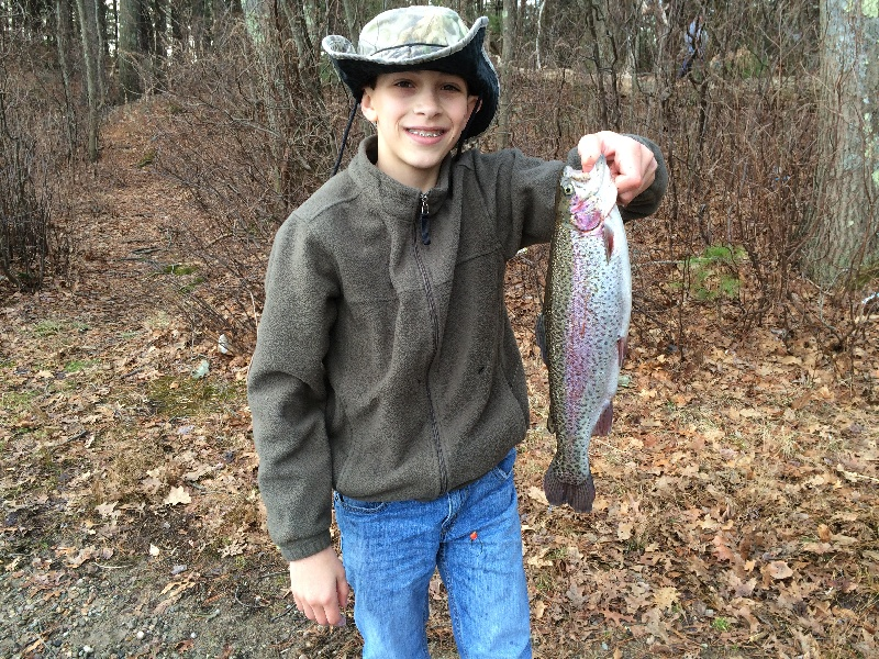 Brothers first trout of the year