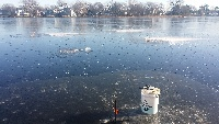 Ice fishing  today Arlington