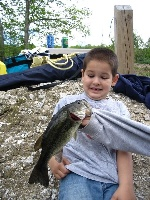 Dillon's First Bass!