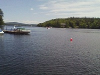 Good view of part of Lake Sunapee