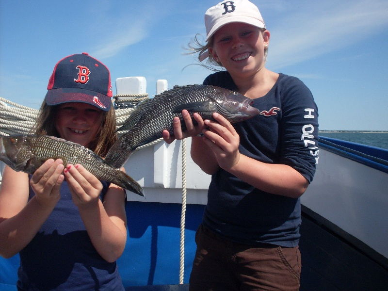 Girls with Sea Bass