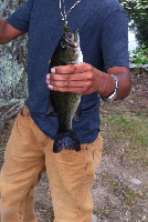 "caught a 10"" bass in a little pond"