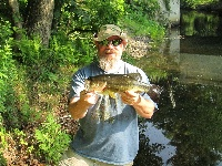 bass caught on 7/2/14 on frog