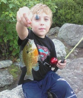 my boy catching some fish