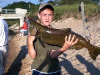 my huge 3 ft salmon from ludington st park