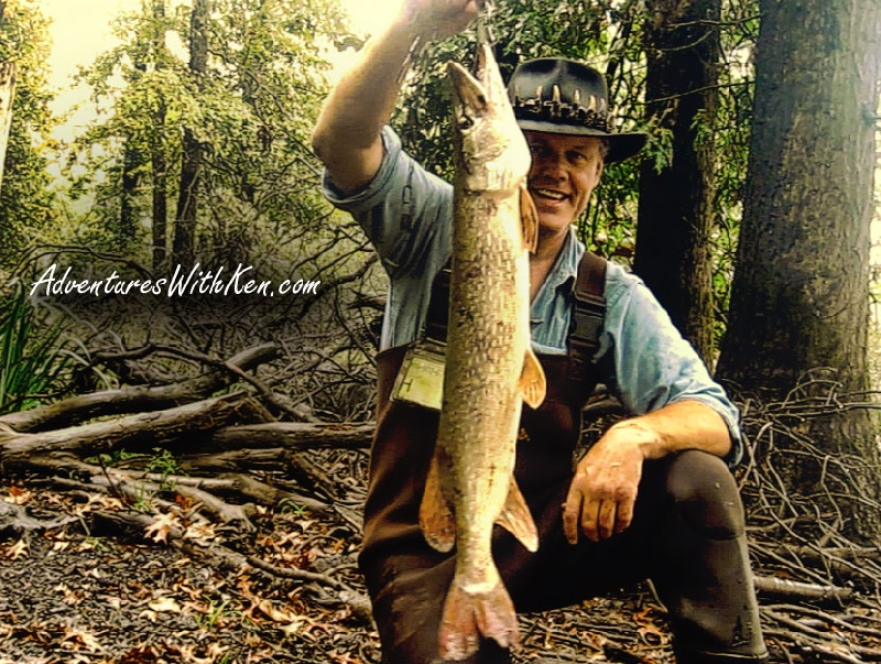 Ken Beam catches Pike in Great Swamp | NJ Fishing | Fall Fishing 2014