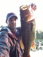 6lb. Largemouth Bass at Canton Reservoir on 8/12/2013