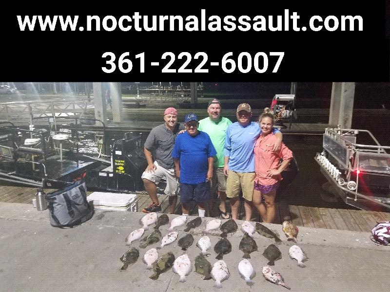 Flounder gigging guide Rockport Tx get it done