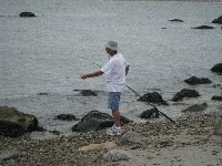 fishing at gooseberry neck/island