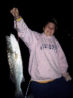 My youngest daughters first salt water fish. Caught under the Gold Star Bridge.