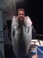 Pair of nice Striped Bass
