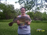 her first big fish