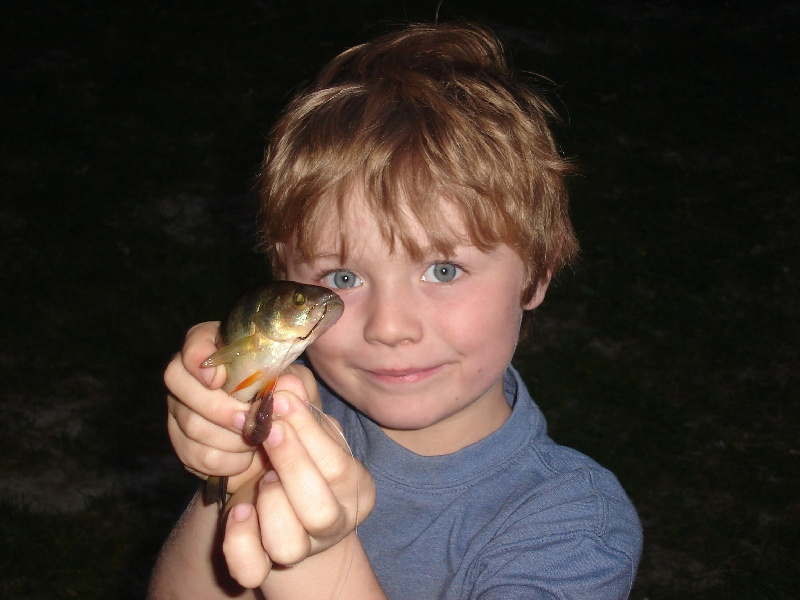 James and his baby perch
