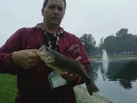 Nice bass at the vo-tech school lake